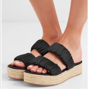 Mercedes Castillo. Satin 'Yolanda' flatform sandal